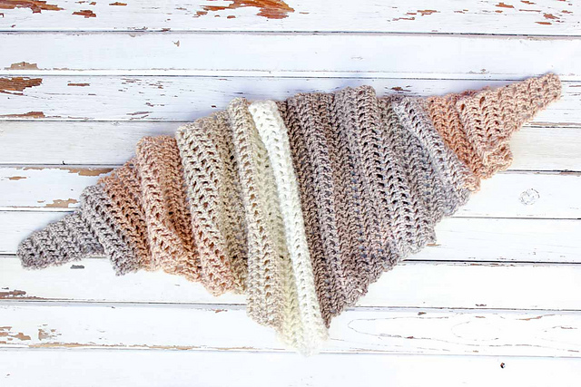 Fast And Easy Crochet Triangle Scarf