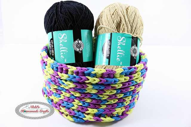 Quick And Easy One Skein T-Shirt Yarn Basket