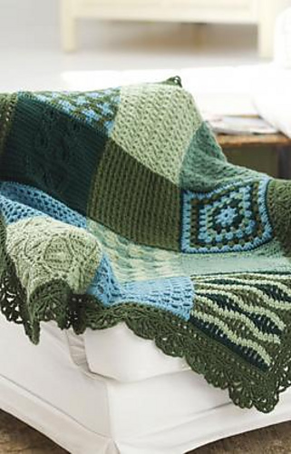 [Free Pattern] This Gorgeous Sampler Afghan Is The Perfect Learn-To-Crochet Project