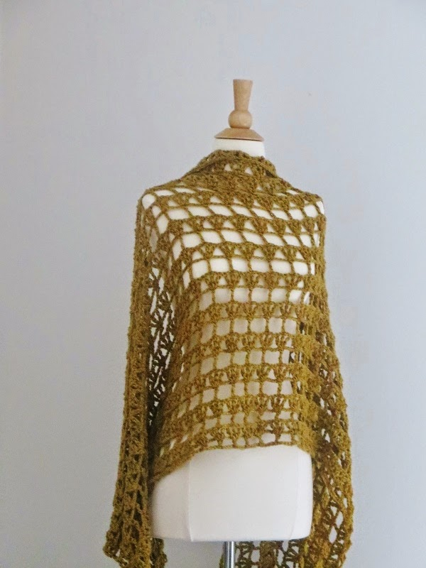 [Free Pattern] Wonderful Aida Lacy Shawl: So Simple And Fast!