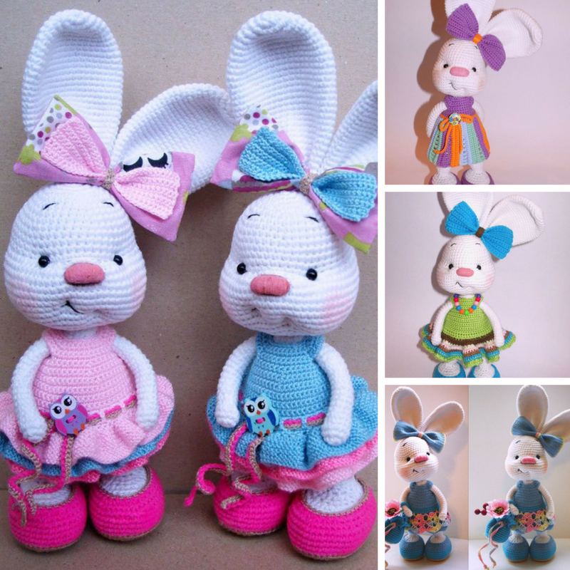 Love This Pretty Bunny Amigurumi In Dress