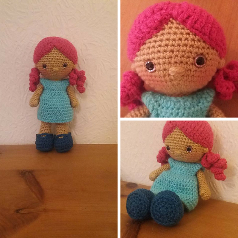 Lovely Little Crochet Doll Free Pattern : Weebee Special Edition Nelly Doll