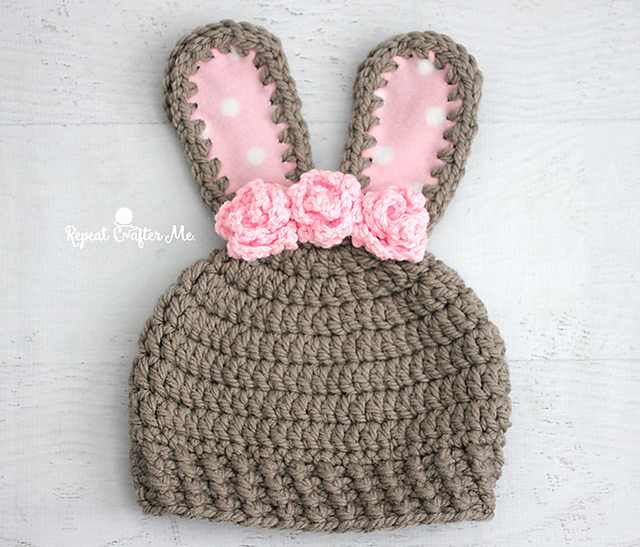 This Crochet Easter Bunny Hat Pattern Is Adorable!