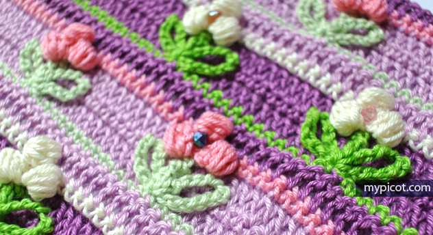 Learn A New Crochet Stitch: Crochet Puff Flower Stitch