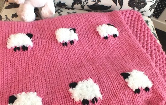 How To Make A Cute Sheep Baby Blanket ( Free Knitting Pattern ...