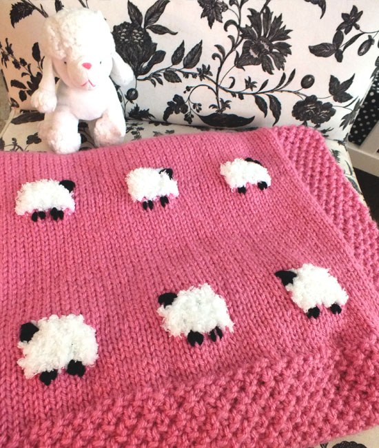 Free Knit Pattern For Baby Blanket : How To Make A Cute Sheep Baby Blanket ( Free Knitting Pattern) - Knit And Cro...