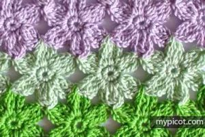 Learn A New Crochet Pattern: Crochet Flower Stitch