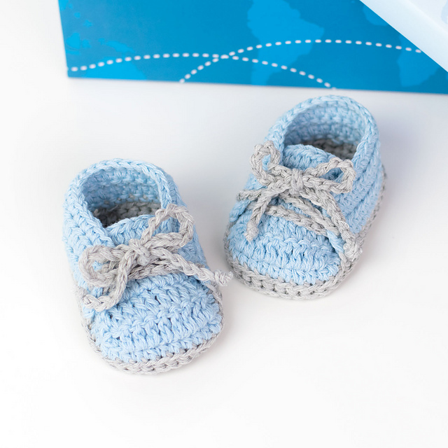 [Free Pattern] Cute And Easy Baby Sneakers