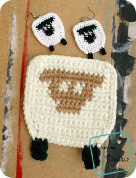 [Free Pattern] These Joyful Dancing Sheep Earrings Will Add A Touch Of Whimsy To Whatever You Wear