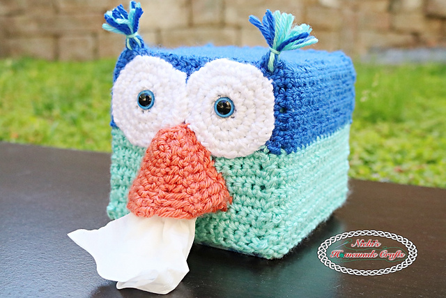 [Free Pattern] Cleverly Creative Crochet Owl Tissue Box Cover