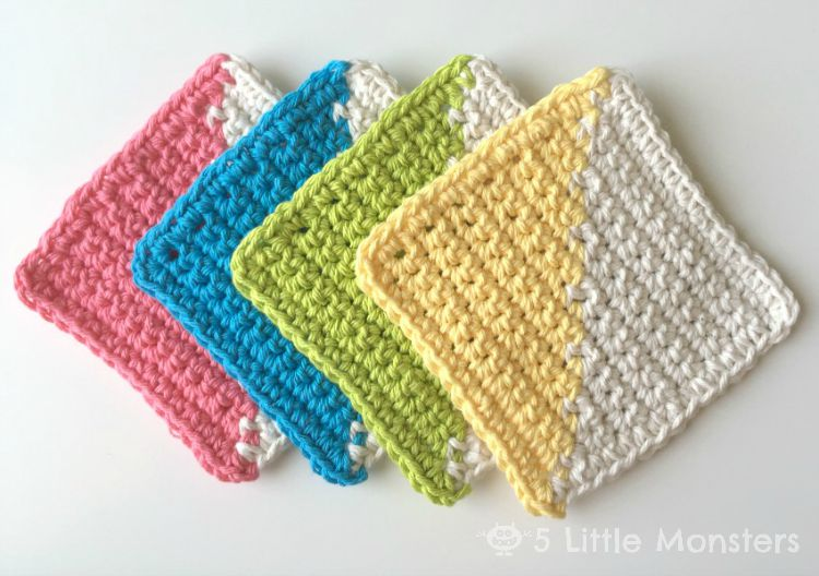 [Free Pattern] Eye-Catching And Trendy Crochet Coasters