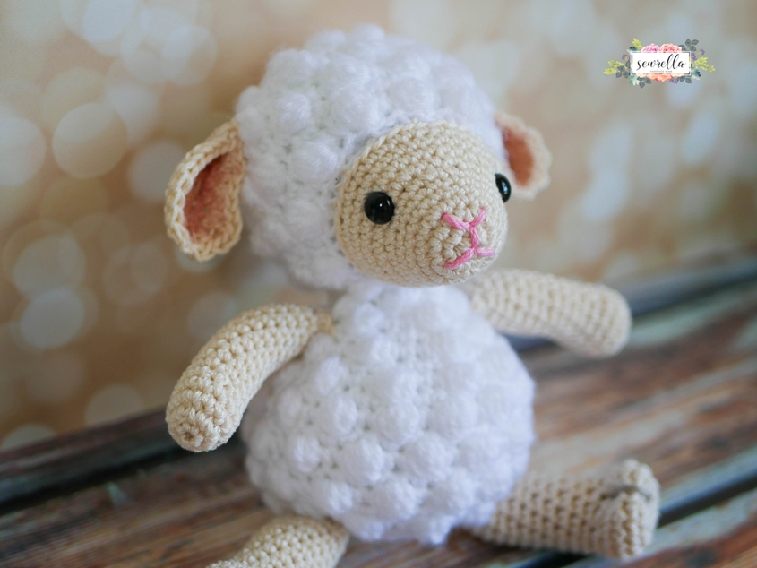 Mario Amigurumi Free Pattern : [Free Pattern] The Most Adorable Little Lamb Amigurumi Toy ...