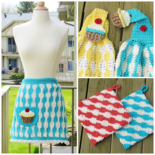 [Free Pattern] Feminine, Functional And Fashionably Fun Crochet Cupcake Apron