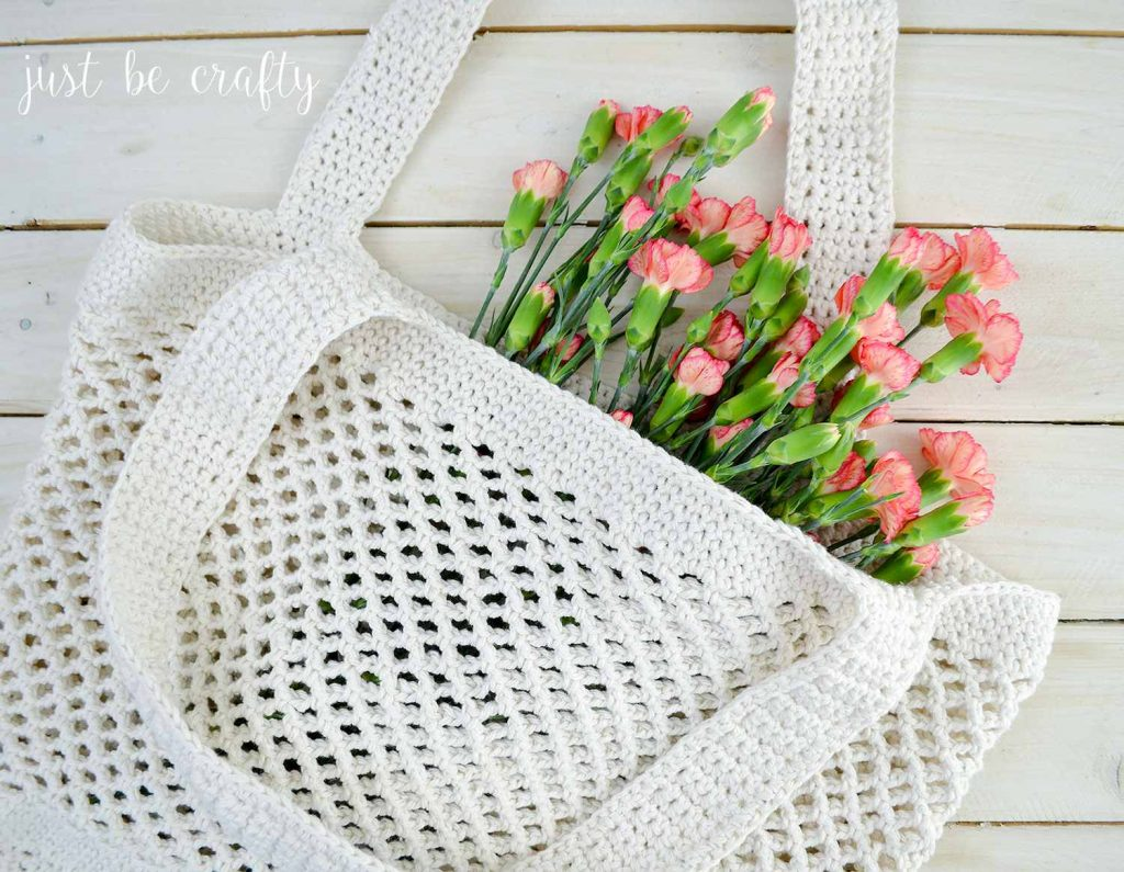 [Free Pattern] Cute Crochet Farmers Market Tote Bag With A Dash Of Style