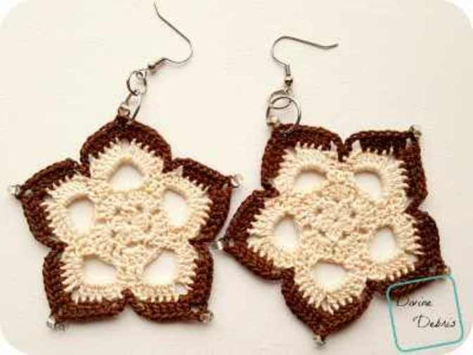 [Free Pattern] Beautiful, Elegant, And Nicely Sized Mini Mandala Earrings You Will Wear Everyday