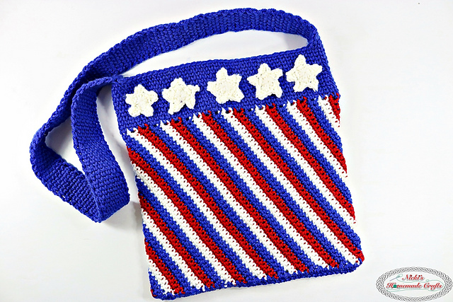 [Free Pattern] Perfect For Any Season Stars and Stripes Bag