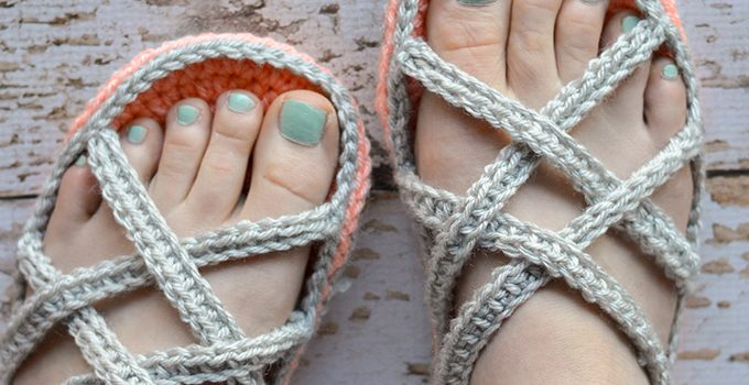 Free Pattern How To Crochet Super Comfy Slipper Sandals Matching