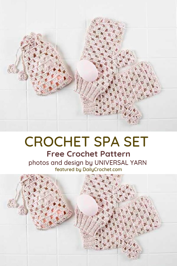 [Free Pattern] This Crochet Spa Set Pattern Has Everything You Need For A Luxurious Spa Experience