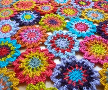 Simply And Utterly Gorgeous Japanese Flower Blanket Knit And