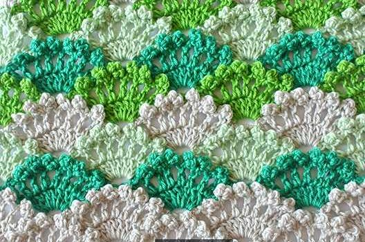 Free Pattern Learn A New Crochet Stitch Crochet Shell Stitch