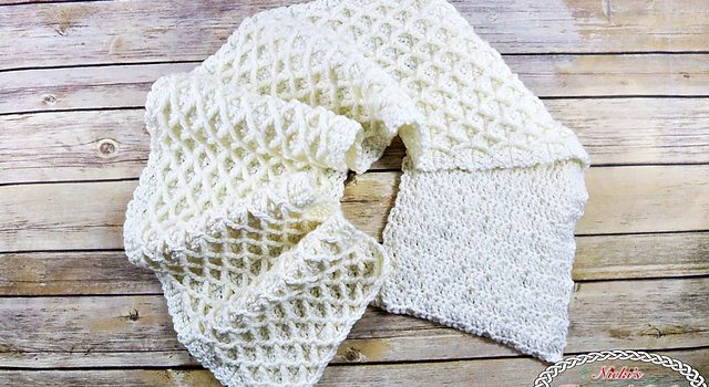 35297adc901 Free Pattern  Super Elegant Lattice Scarf - Knit And Crochet Daily