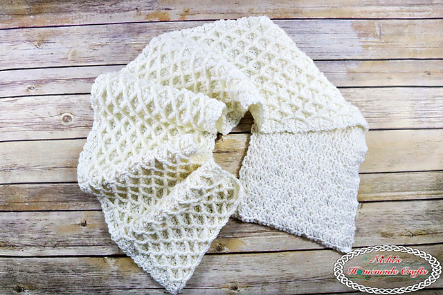 [Free Pattern] Super Elegant Lattice Scarf