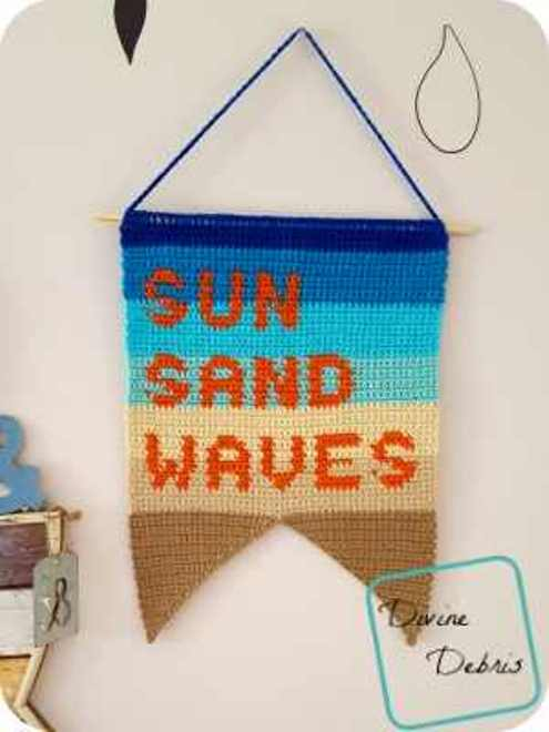 [Free Pattern] Sun, Sand, And Waves Wall Hanging Pattern Get Your Home In A Summer Mood