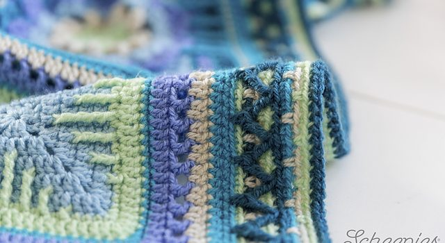 Free Pattern Spectacular Zig Zag Blanket Border Knit And Crochet