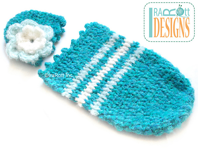 Free Pattern Super Cute Newborn Baby Cocoon Beanie Set Knit And