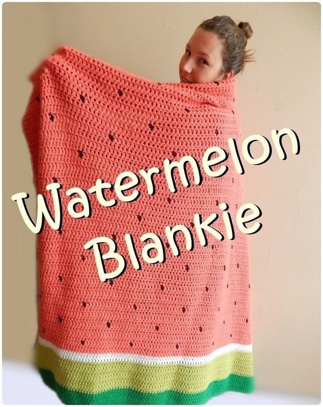 [Free Pattern] Simple And Delicious Watermelon Crochet Blanket