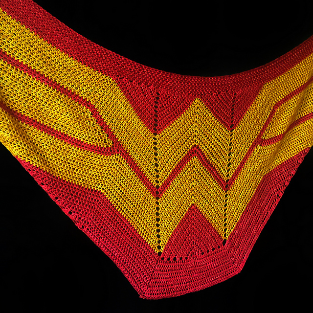 [Free Pattern]This Wonder Woman Wrap Is Fabulous!