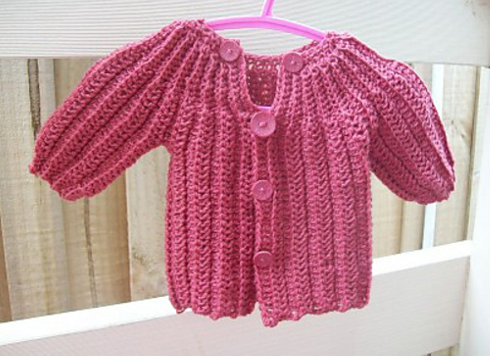 [Free Pattern] This One Piece Wonder Baby Sweater Pattern Is Brilliant!