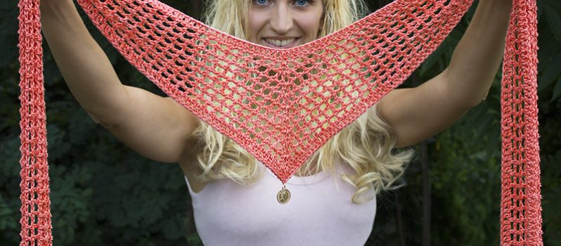 Video Tutorial Quick And Easy Crochet V Scarf Knit And Crochet Daily