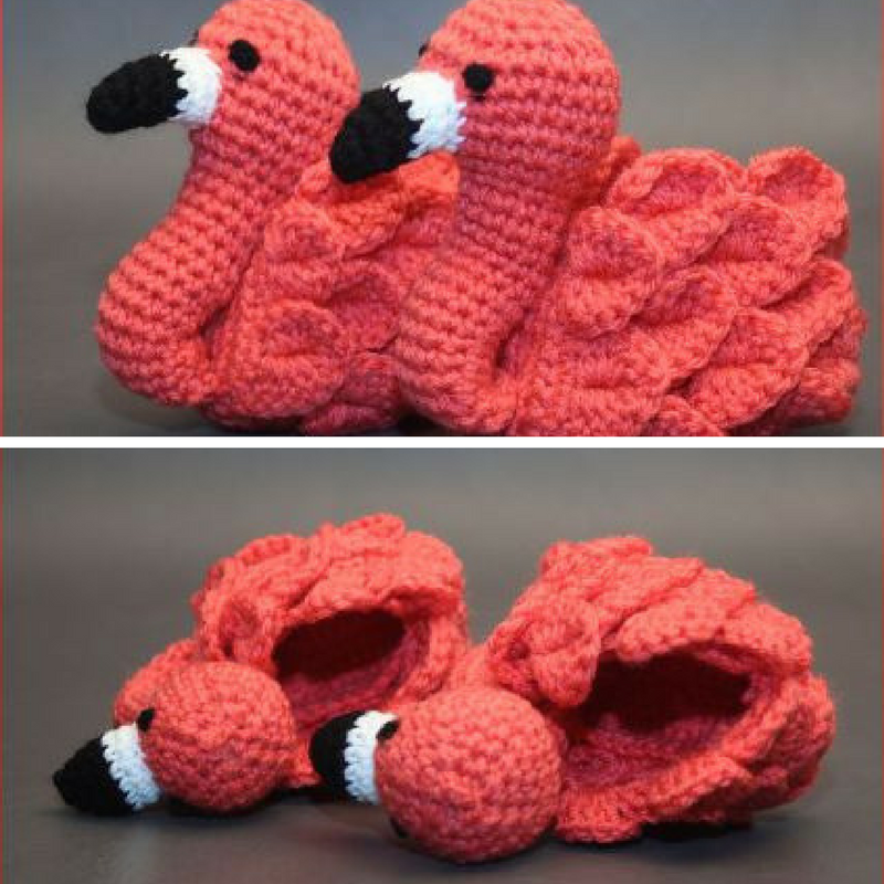 [Video Tutorial] Stand Out In A Crowd With These Adorable Flamingo Feet Baby Booties