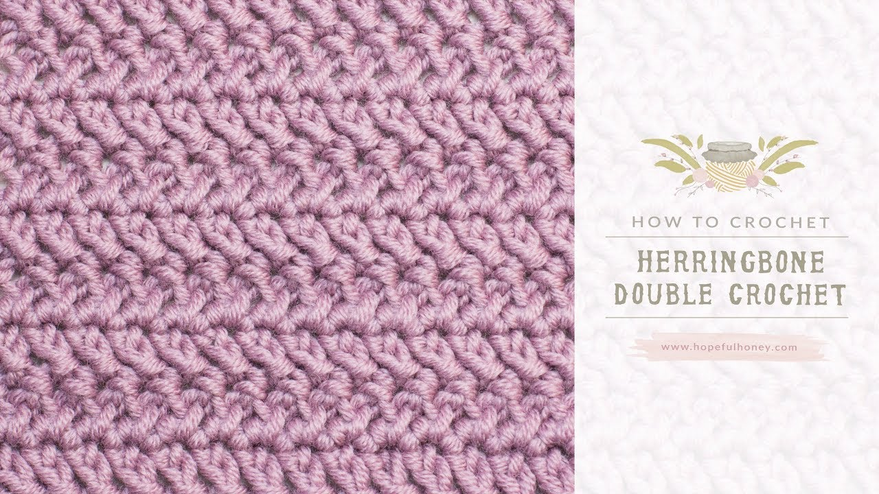 Learn New Knitting Stitches : Learn A New Crochet Stitch: The Herringbone Double Crochet Stitch - Knit And ...
