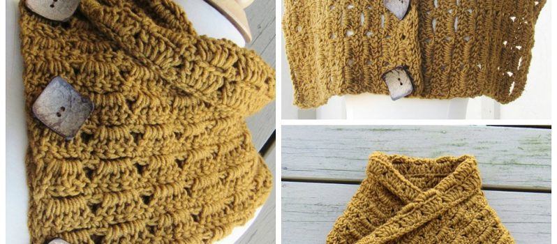 Free Pattern] Endlessly Pretty Crochet Button Cowl - Knit And ...