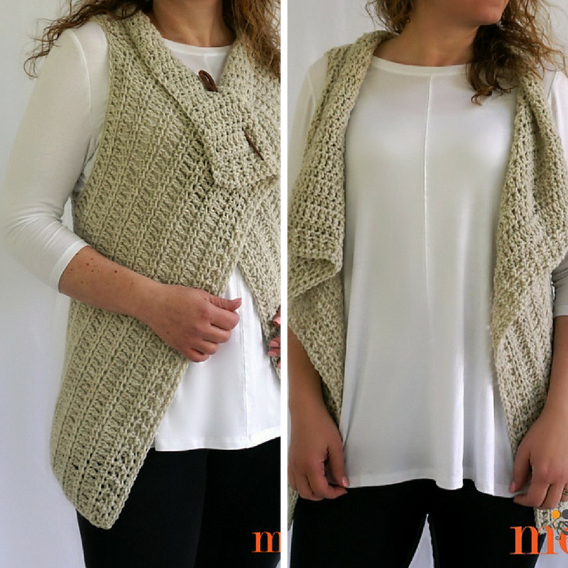 [Free Pattern] So Simple And Perfect Waterfall Vest In 4 Sizes