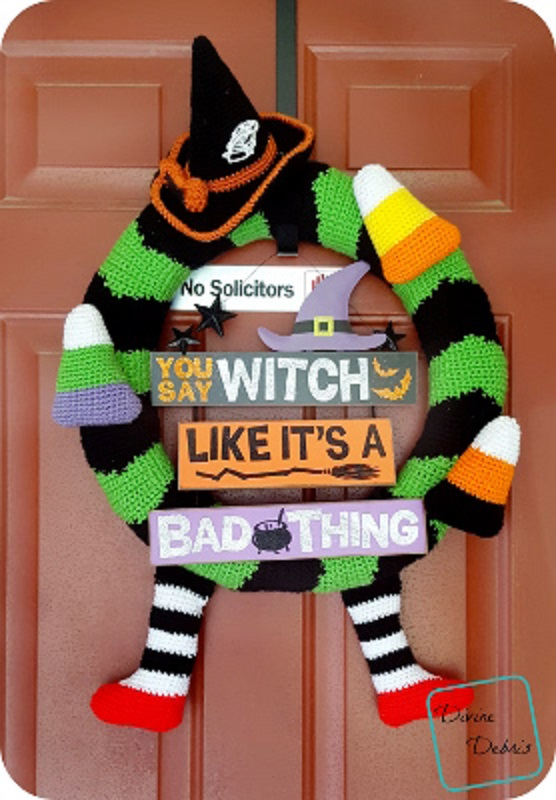 Free Pattern Fully Fun Silly And Adorable Halloween Wreath