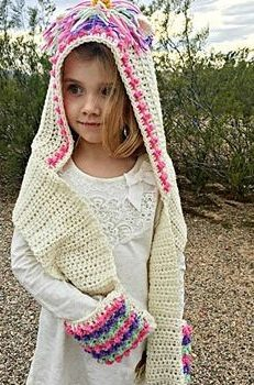 Free Pattern  This Unicorn Hood Looks So Magical! - Knit And Crochet ... f96139d6f48