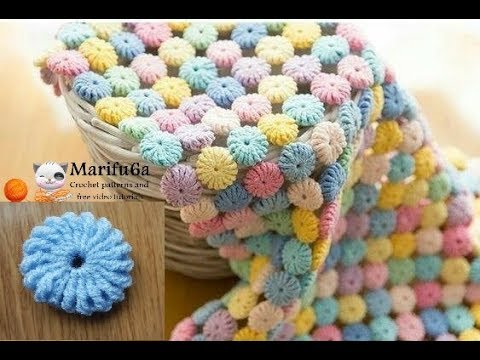 [Video Tutorial] Beautiful Circle Afghan Blanket Crochet Pattern Adds A Rainbow Of Color To Any Room