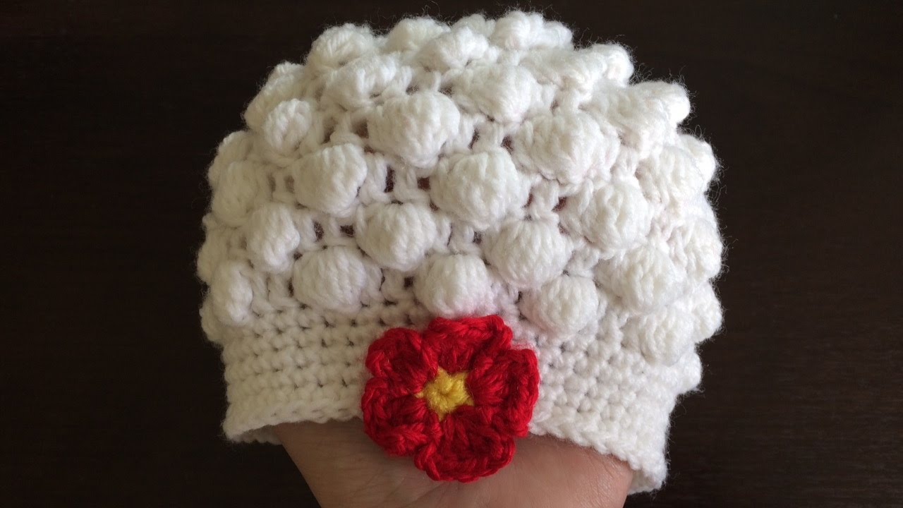 Video Tutorial] Super Simple Bobble Stitch Baby Hat - Knit And ...