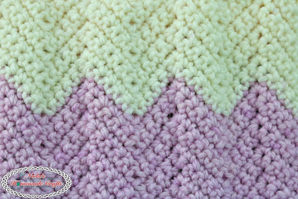 Learn A New Crochet Stitch: Chevron Ripple Stitch in Single Crochet