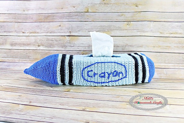[Free Pattern] Add Fun To Your Home Decor With This Crayon Tissue Box Cover Crochet Pattern