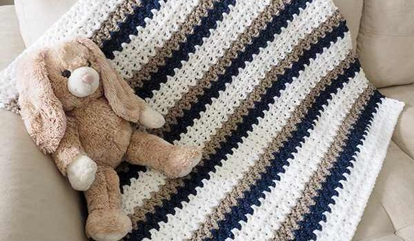 Free Pattern Make One Baby Blanket A Day With This Quick And Easy