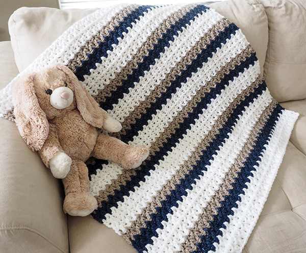 Single and Double Crochet Blanket Patterns- Easy 'Done in a Day' Crochet Baby Blanket