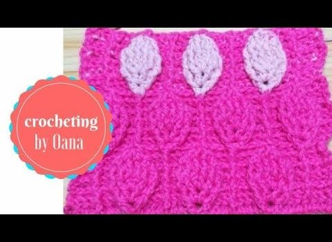 Video Tutorial Learn A New Crochet Stitch 3d Leaf Stitch Knit