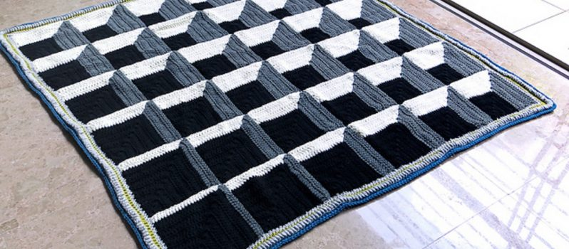 Free Pattern This Has To Be One Of The Coolest Crochet Afghans Ive