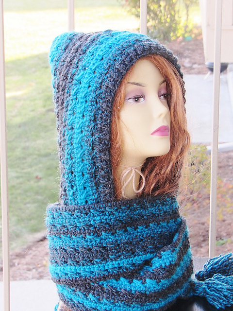 Free Pattern Heidi Hooded Scarf Is One Of The Comfiest Things You