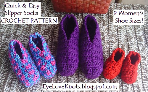 Free Pattern] The Easiest Crochet Slippers You Will Ever Make - Knit ...