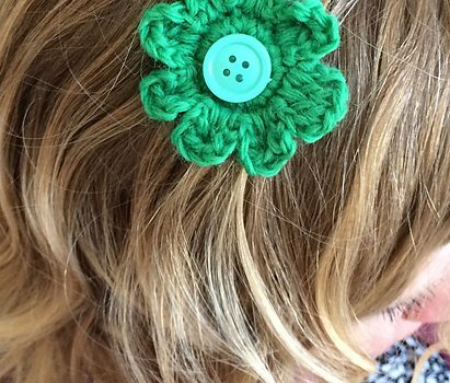 Free Pattern Quick And Cute Hair Flower No Slip Clips Accessories